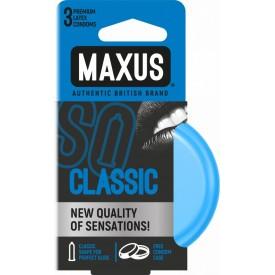 Классические презервативы в железном кейсе MAXUS Classic - 3 шт.